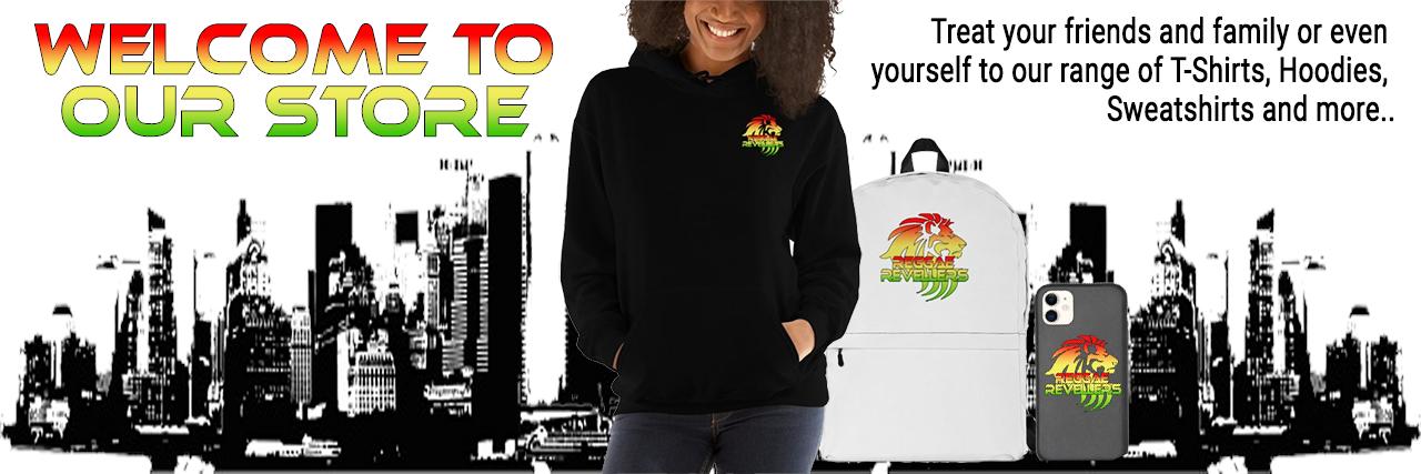 Reggae Revellers Shop header